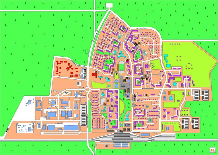 Az erdőbe épített város térképe