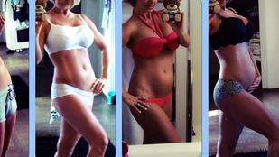 Így változott Pirner Alma teste 9 hónap alatt
