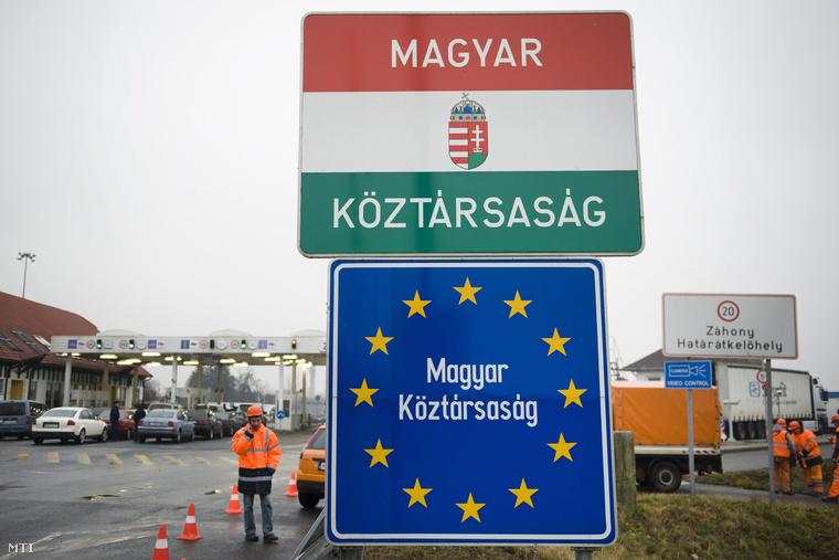 Záhonyi határátkelőhely.