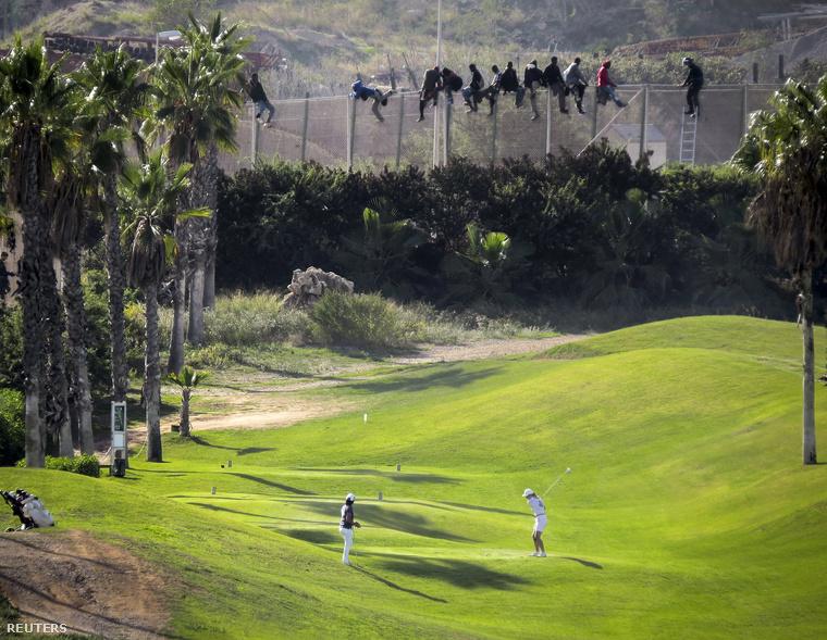 A pozitív példa: Melilla a spanyol határon