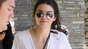 Kendall Jenner melltartó nélkül, mellpiercinggel ment a tesója szülinapjára