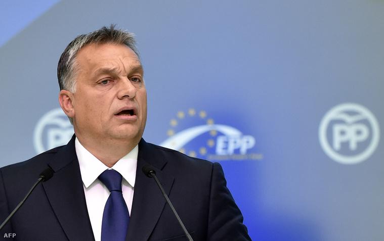 Orbán Viktor az Európai Néppárt közgyűlésén, 2015. október 22-én, Madridban.