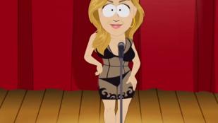 Gigi Hadid a South Parkban is sokat mutat magából