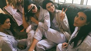 Pizsamásbuli volt a Kardashianéknál