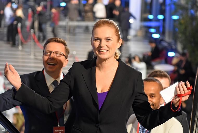 Barbara Nowacka, az Egyesült Baloldal politikusa.