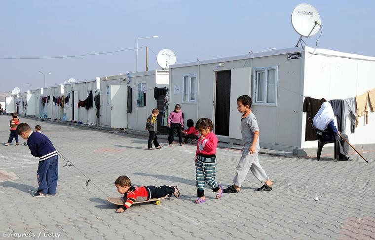 A nizipi menekülttábor 2014. január 28-án