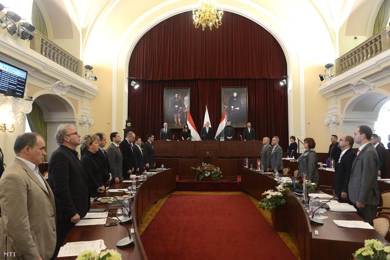 A Fővárosi Közgyűlés 2015. október 28-ai ülése.