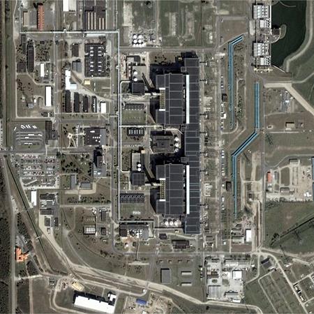 A paksi atomerőmű a Google Earth műholdképén