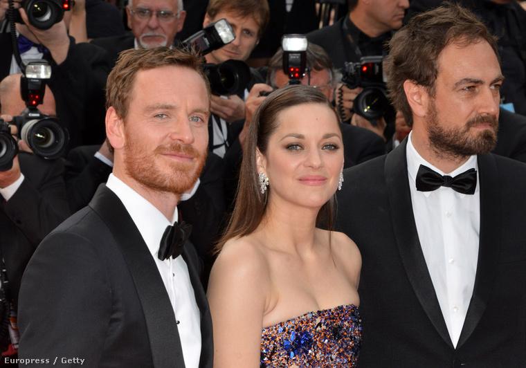 Michael Fassbender, Marion Cotillard és Justin Kurzel rendező a Cannes-i Filmfesztiválon