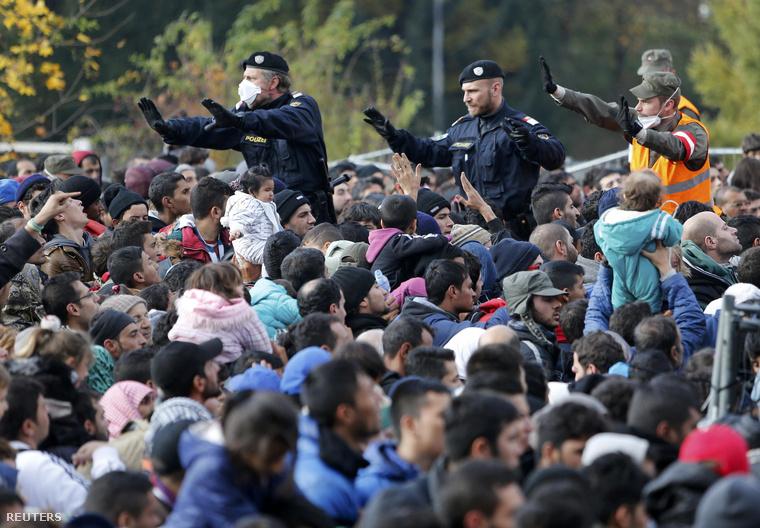 Menekültek az osztrák-szlovén határon, Spiefeldnél