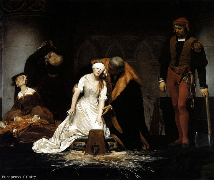 Jane Grey kivégzése (1745.)