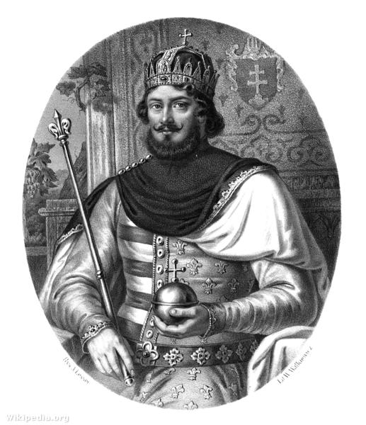 I. (Nagy) Anjou Lajos magyar és lengyel király.