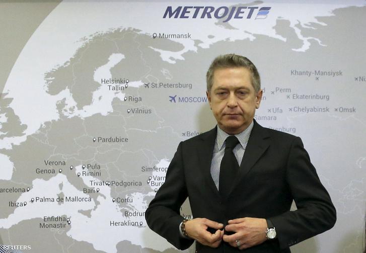 A légitársaság vezérigazgatója a sajtótájékoztató után