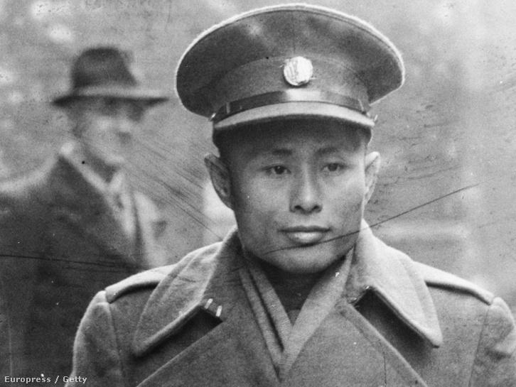Aung Szán a burmai függetlenség atya Londonban 1945-ben.