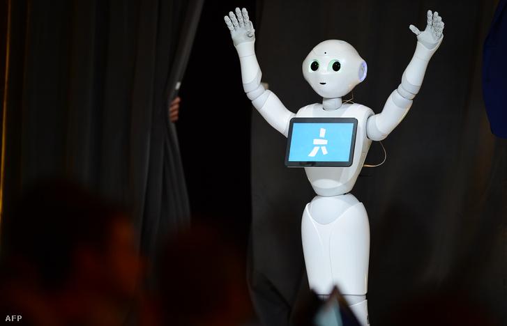 Pepper, a barátságos kinézetű robot.
