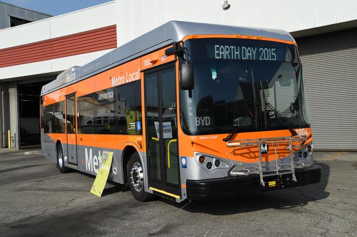 Már Los Angelesben is közlekednek BYD buszok (fotó: BYD)