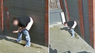 Na ez a multitasking: cigizve pisilő nőt fedeztek fel a Street View-n