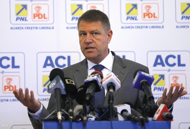 Klaus Johannis államfő, aki ellen Ponta elvesztette 2014-ben az elnökválasztást.