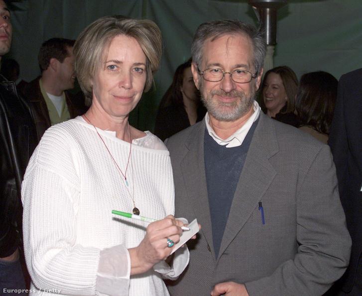 Melissa Mathison és Steven Spielberg 2002-ben, az E.T. bemutatójának huszadik évfordulóján, Los Angelesben.