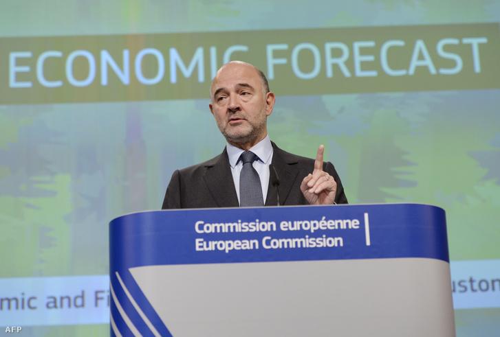Pierre Moscovici, a gazdaságért és pénzügyekért felelős EU-biztos