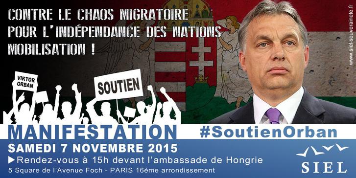 Az Orbán melletti tüntetés meghívója
