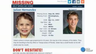 Egy amerikai tinédzser saját magát találta meg az eltűnt gyerekek listáján