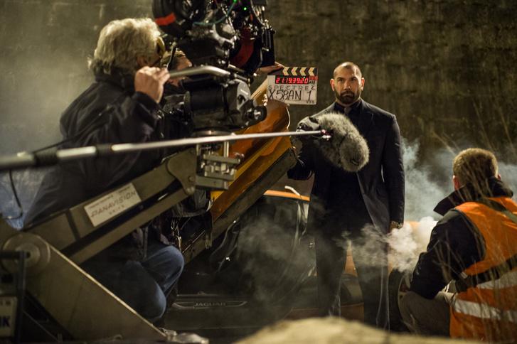 Dave Bautista a Spectre forgatásán