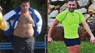 Győzike 55 kilót fogyott és izmosra gyúrta magát