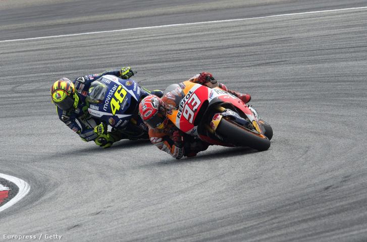 Marquez és Rossi a nagy visszahangot kiváltó Maláj Nagydíjon.