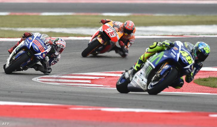 Akikről szólt a szezon: Valentino Rossi, Jorge Lorenzo és Marc Marquez Imolában.