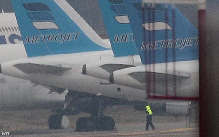 A Kogalymavia orosz légitársaság gépei a moszkvai Domogyedovo repülőtéren.
