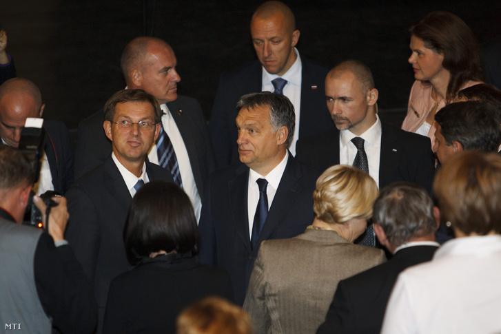Orbán Viktor és Miro Cerar szlovén kormányfő a szlovéniai Lendván
