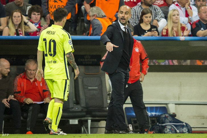 Josep Guardiola egykori csapata és klasszisa ellen.