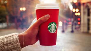 Hatalmas a hiszti a Starbucks karácsonyi pohara miatt
