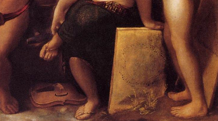Kör- és háromszögkották Dosso Dossi festményén. Mellekért és fenekekért kattintson a képre!