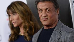 Sylvester Stallone nem hagyja, hogy a felesége kimaradjon a buliból
