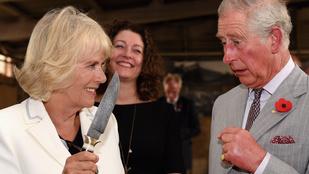 Kamilla hercegné késsel ijesztgette Károly herceget