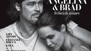 Elkészült a tökéletes címlapfotó Angelina Jolie-ékról
