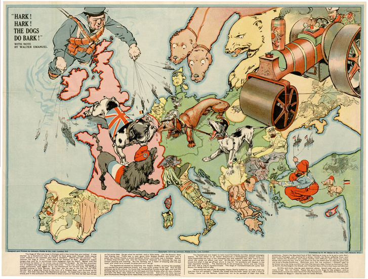 Hark! Hark! The dogs do bark! (1914)                         (OSZK Térképtár, T 9 304)