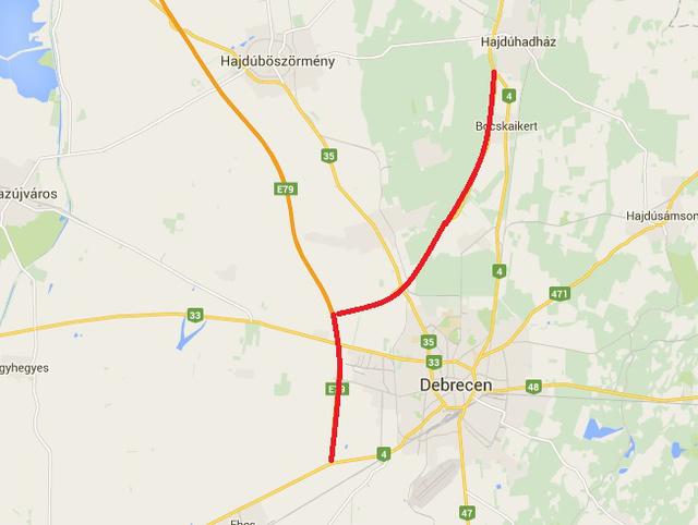 debrecen elkerülő térkép Totalcar   Közösség   Hol ingyenes az elkerülő? debrecen elkerülő térkép