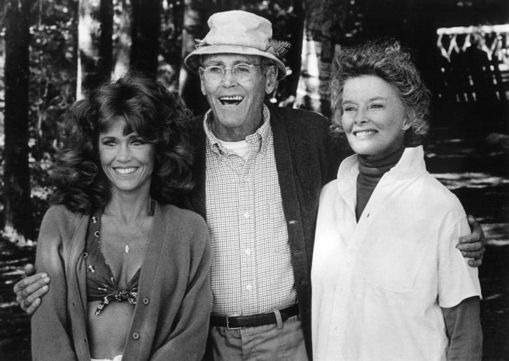 Jane Fonda, Henry Fonda és Katharine Hepburn az Aranytó című filmben