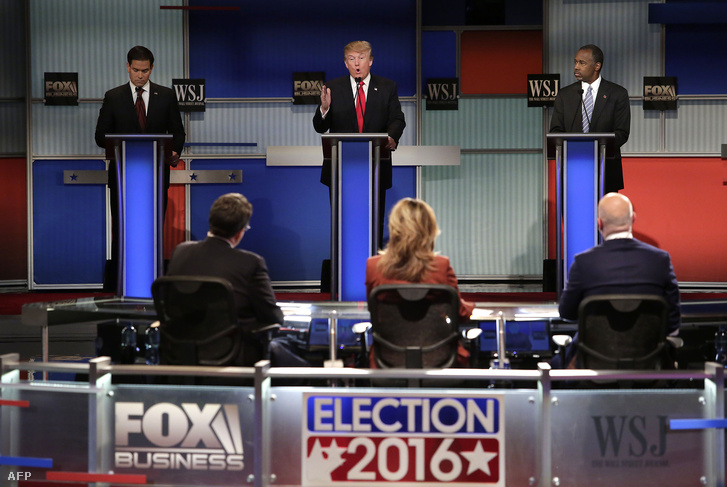 Marco Rubio, Donald Trump és Ben Carson