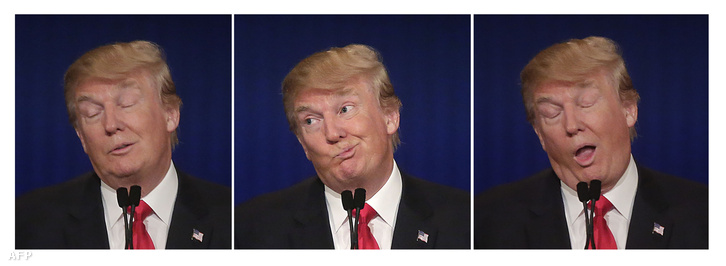 Donald Trump arcai a vita alatt.