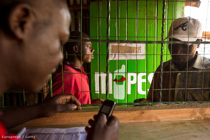 M-Pesa kioszk Nairobiban