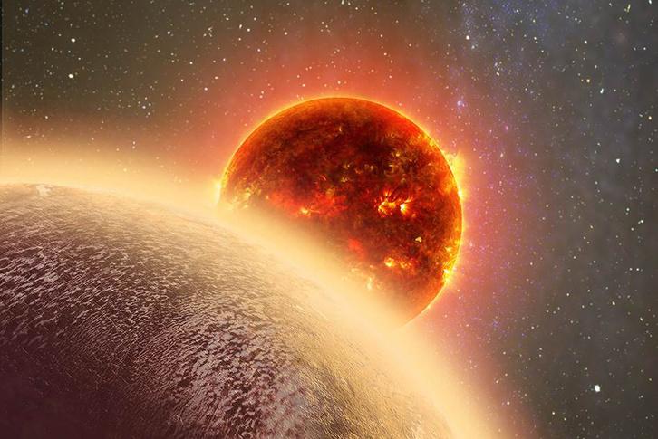 Így nézhet ki egymás mellett a Gj 1132b és a csillaga