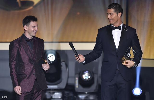 Messi és Cristiano Ronaldo a legutóbbi gálán