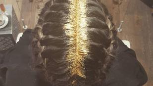 Új divat hódít, a csillámmal telekent haj