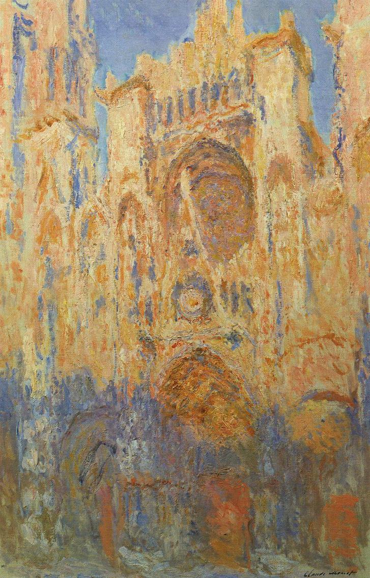 Monet: A roueni katedrális alkonyatkor