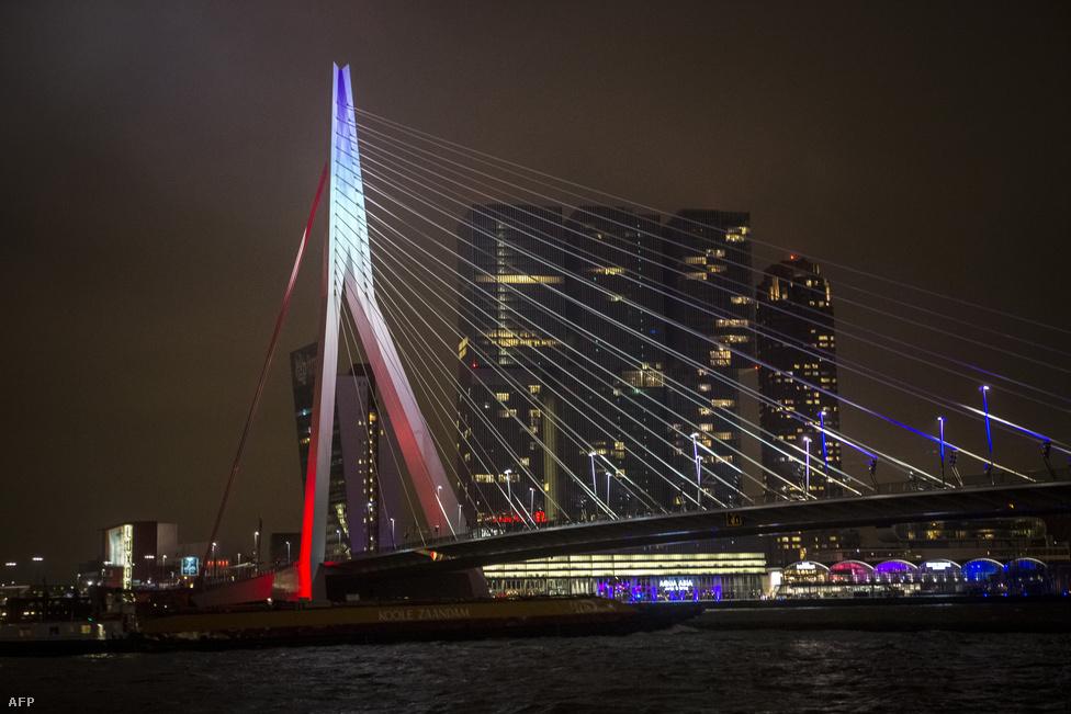 Erasmus-híd, Rotterdam, Hollandia