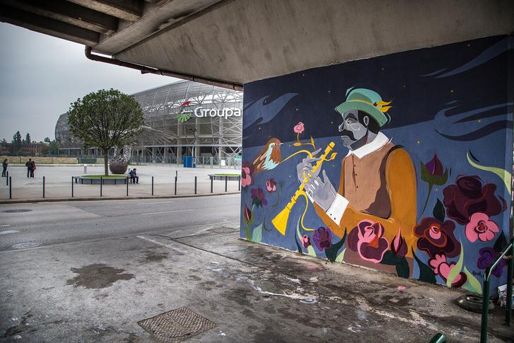 Tárogató a hungarikumokat bemutató népligeti falfestménysorozaton